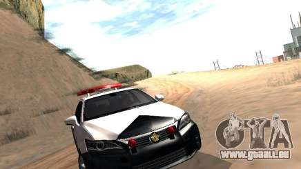 Lexus CT200H Japanese Police pour GTA San Andreas