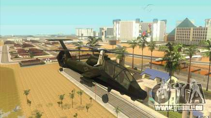 Sikorsky RAH-66 Comanche stealth green pour GTA San Andreas