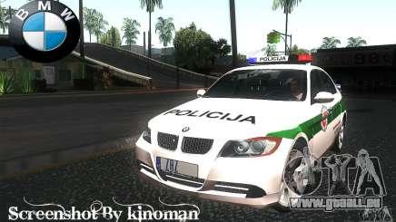 BMW 330 E90 Policija pour GTA San Andreas