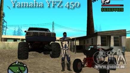 Yamaha YFZ450 für GTA San Andreas