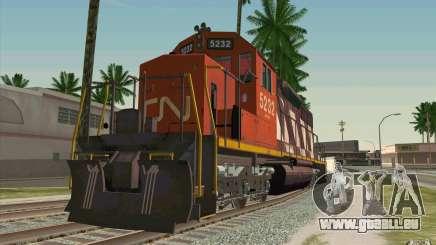 CN SD40 ZEBRA STRIPES pour GTA San Andreas