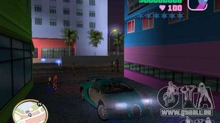 Bugatti Veyron pour GTA Vice City