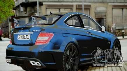Mercedes-Benz C63 AMG Black Series 2012 v1.0 pour GTA 4