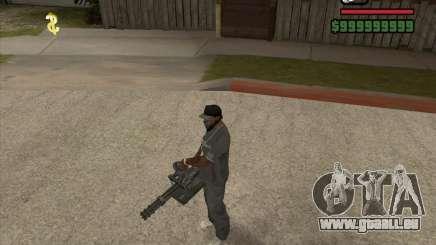 Hand Held M134 Minigun für GTA San Andreas