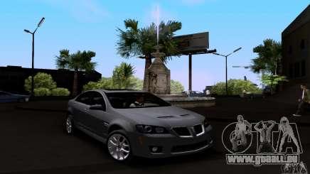 Pontiac G8 GXP für GTA San Andreas
