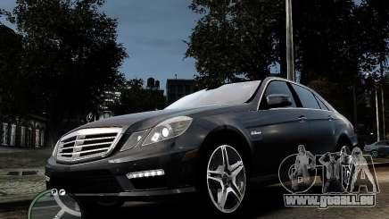 Mercedes Benz E63 AMG v2.0 2010 pour GTA 4