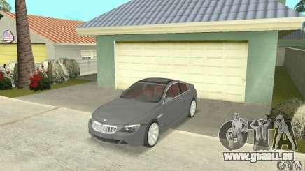 2004 BMW 645ci E63 avec intérieur rouge pour GTA San Andreas