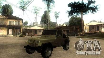 Jeep Wrangler 1986 4.0 Fury v.3.0 pour GTA San Andreas