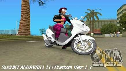 Suzuki Address 110 Custom Ver.1.3 für GTA Vice City