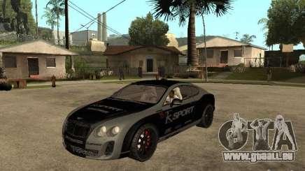 Bentley Continental SS Skin 4 pour GTA San Andreas