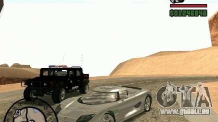 Koenigsegg CC8S für GTA San Andreas