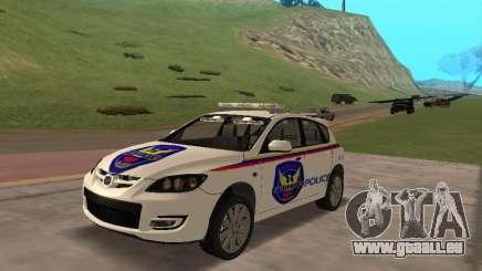 Mazda 3 Police pour GTA San Andreas