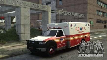 Ford F-350 Ambulance FDNY pour GTA 4