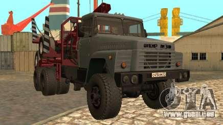Transporteur de bois KrAZ-255 pour GTA San Andreas