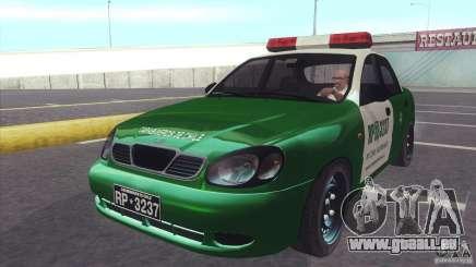 Daewoo Lanos De Carabineros De Chile für GTA San Andreas