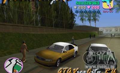 Audi S8 Tuning pour GTA Vice City