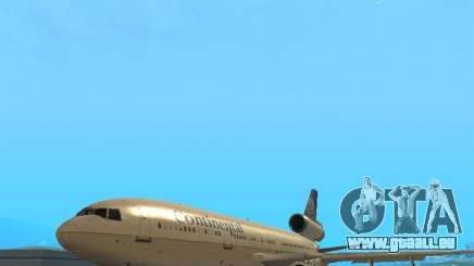 McDonell Douglas DC10 Continental Airlines für GTA San Andreas