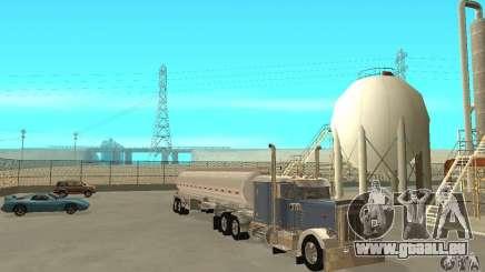 Peterbilt 379 Custom And Tanker Trailer für GTA San Andreas