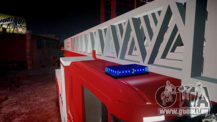 Scania Fire Ladder v1.1 Emerglights blue-red ELS für GTA 4