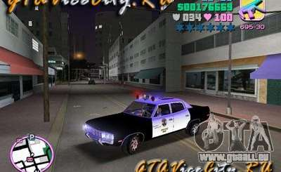 Police Ford AMC Matador pour GTA Vice City