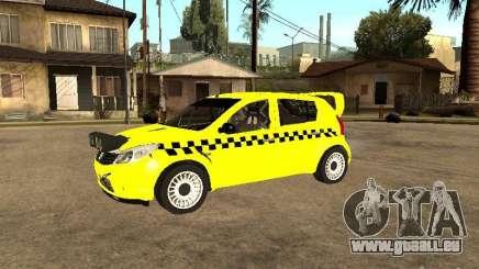 Dacia Sandero Speed Taxi für GTA San Andreas