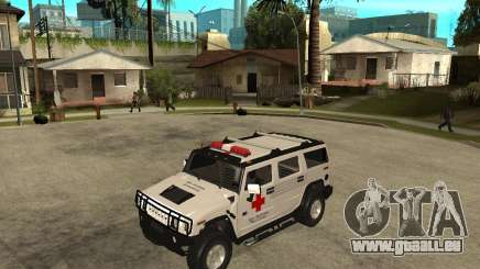 AMG H2 HUMMER - RED CROSS (ambulance) pour GTA San Andreas