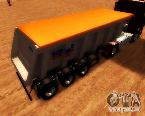 Remorque Schmitz Cargo Bull pour GTA San Andreas laissé vue
