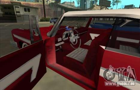 Plymouth Fury pour GTA San Andreas sur la vue arrière gauche