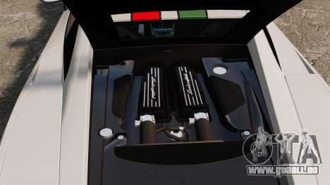 Lamborghini Gallardo LP570-4 Superleggera 2011 pour GTA 4 est une vue de l'intérieur