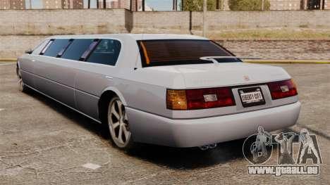 Limousine sur les lecteurs de 22 pouces pour GTA 4 Vue arrière de la gauche