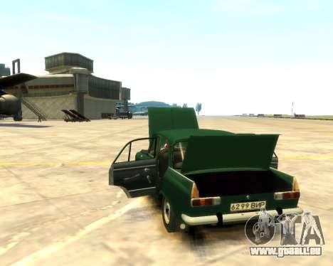 Moskvitch 412 pour GTA 4 Vue arrière