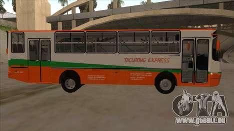 Tacurong Express 368 für GTA San Andreas zurück linke Ansicht