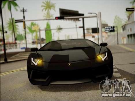 Lamborghini Aventador LP700 pour GTA San Andreas vue intérieure
