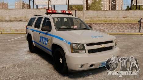 Chevrolet Tahoe 2007 NYPD [ELS] pour GTA 4