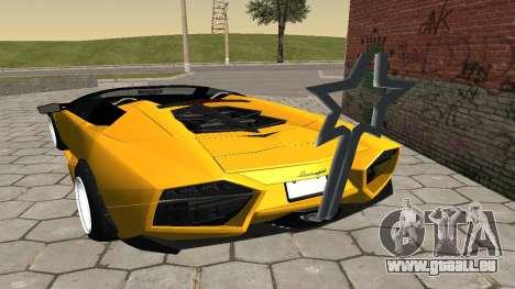 Lamborghini Reventon Shakotan für GTA San Andreas zurück linke Ansicht