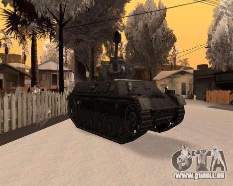 Panzerkampfwagen pour GTA San Andreas vue de droite