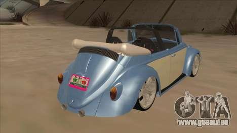 VW Beetle 1969 pour GTA San Andreas vue de droite