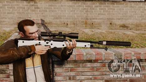Fusil de sniper AW L115A1 avec un silencieux v1 pour GTA 4