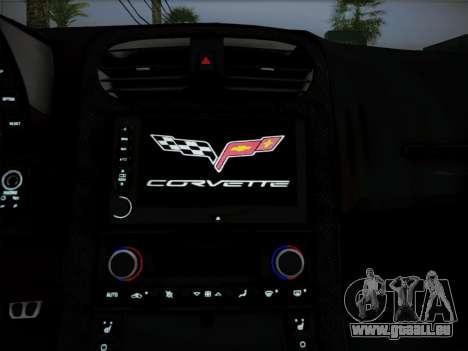 Chevrolet Corvette ZR1 2010 pour GTA San Andreas vue intérieure
