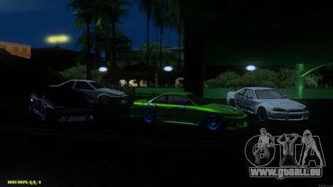 Nissan Silvia RPS13 CIAY pour GTA San Andreas vue de dessus