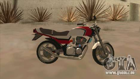 Honda CBX400F pour GTA San Andreas laissé vue