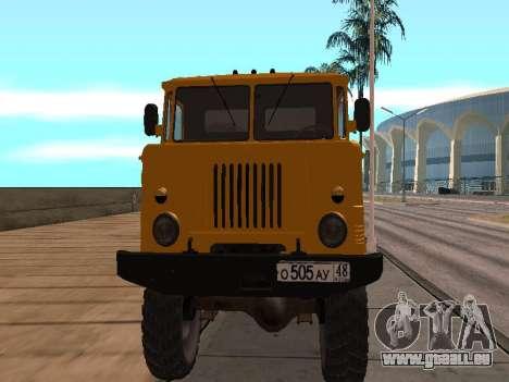 Camion gaz-66 pour GTA San Andreas laissé vue