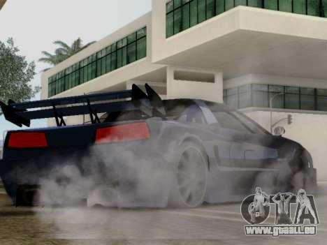 Infernus DoTeX pour GTA San Andreas sur la vue arrière gauche