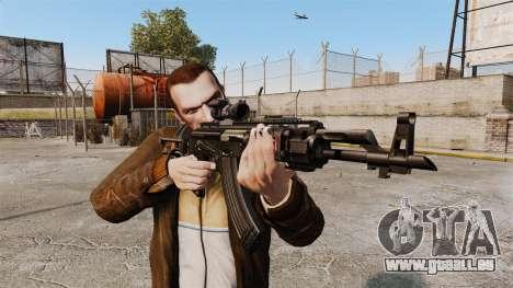 Kalachnikov AK-47 Sopmod pour GTA 4 troisième écran