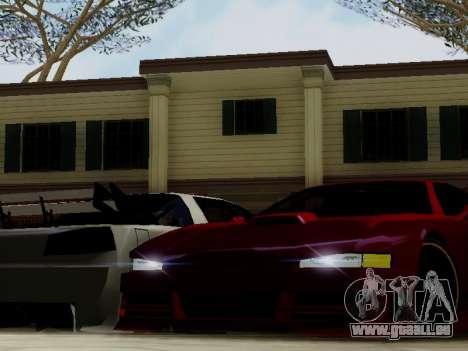 Infernus DoTeX pour GTA San Andreas vue intérieure