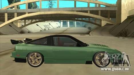 Nissan 180SX Uras GT pour GTA San Andreas sur la vue arrière gauche