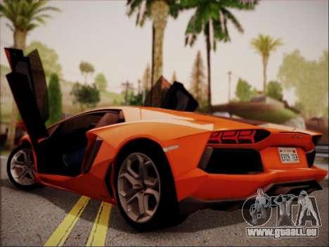 Lamborghini Aventador LP700 pour GTA San Andreas vue de droite