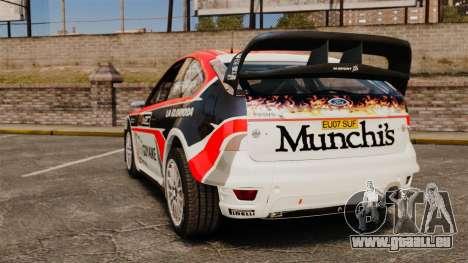 Ford Focus RS Munchis WRC pour GTA 4 Vue arrière de la gauche