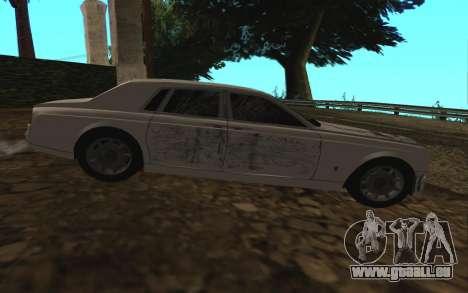 Rolls-Royce Phantom v2.0 pour GTA San Andreas vue de dessus