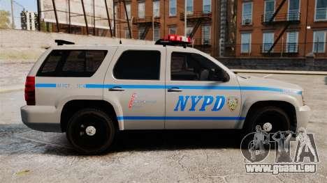 Chevrolet Tahoe 2007 NYPD [ELS] pour GTA 4 est une gauche